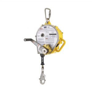 Self-Retracting Lifeline with Rescue Winch and RSQ, Stainless Steel