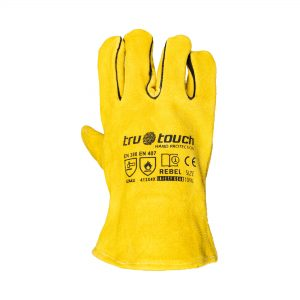 Chrome Leather Yellow Candy Superior Gloves